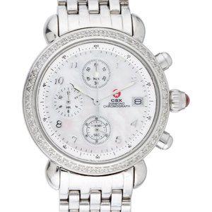Michele CSX 36mm Diamond Bezel Watch